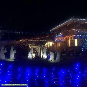 Christmas Light display at 17 Country Club Drive, Chirnside Park
