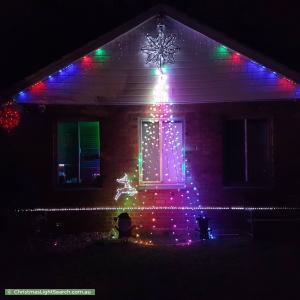 Christmas Light display at 19 Barritt Street, Elizabeth Downs