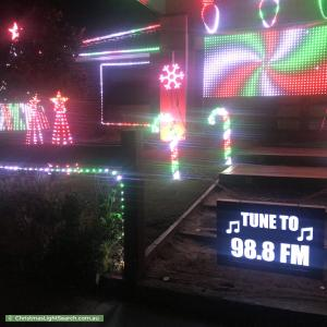 Christmas Light display at 3 Edenhope Place, Eynesbury