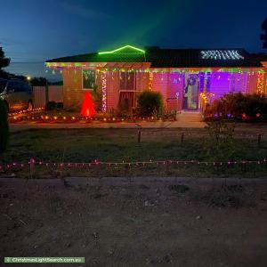 Christmas Light display at 13 Aronson Crescent, Gilmore