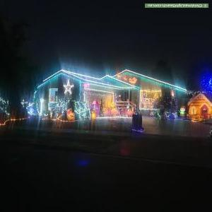 Christmas Light display at 18 Hoysted Avenue, Cranbourne North
