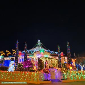 Christmas Light display at 132 Webster Way, Pakenham