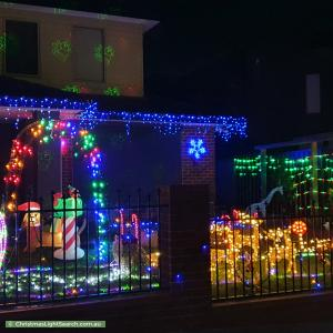 Christmas Light display at 14 Blamey Street, Bentleigh East