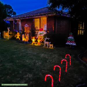 Christmas Light display at 11 Tayport Gardens, Endeavour Hills