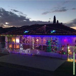 Christmas Light display at  Lynton Avenue, Mitchell Park
