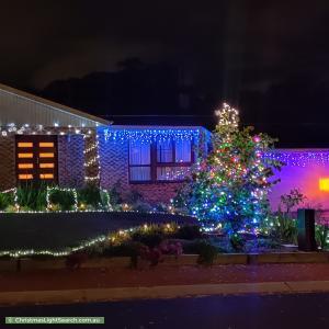 Christmas Light display at 14 Alderman Street, Evatt