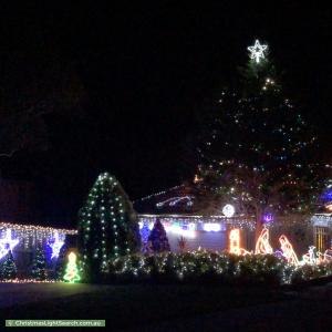Christmas Light display at 40 Gallery Gate Road, Yallambie