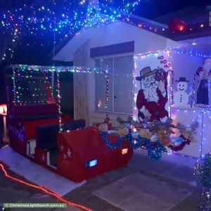 Christmas Light display at 8 Bowaka Street, Park Holme