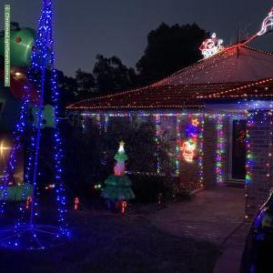 Christmas Light display at 116 Kelleway Avenue, Nicholls