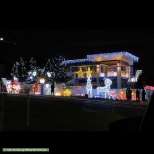 Christmas Light display at 16 Hale Street, North Beach