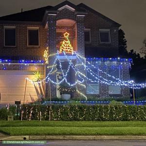 Christmas Light display at  Bishop Street, Cabarita