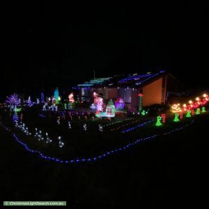 Christmas Light display at 4 Lyall Crescent, Kambah