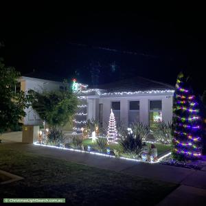 Christmas Light display at 9 Wadeye Street, Crace