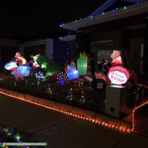 Christmas Light display at 62 Yeungroon Blvd, Clyde North