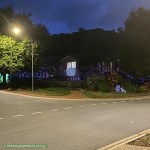 Christmas Light display at 2 Aldor Green, Conder