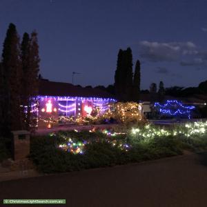 Christmas Light display at 8 Hanretty Place, Bonython