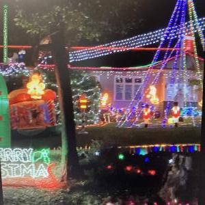 Christmas Light display at 464 Sheffield Road, Montrose
