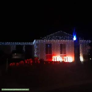 Christmas Light display at 9 Brydon Court, Hastings