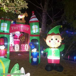Christmas Light display at 50 Wolger Street, Como