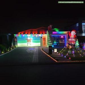 Christmas Light display at 24 Woodloes Street, Piara Waters