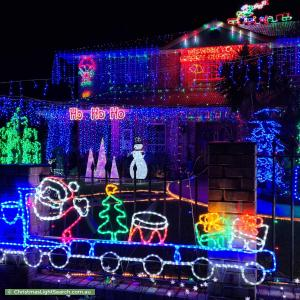 Christmas Light display at 21 Linfield Street, Mansfield