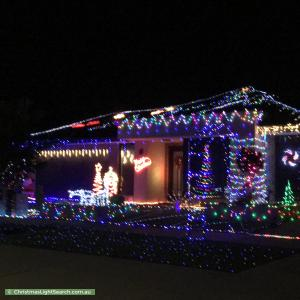 Christmas Light display at 156 Heather Grove, Clyde North