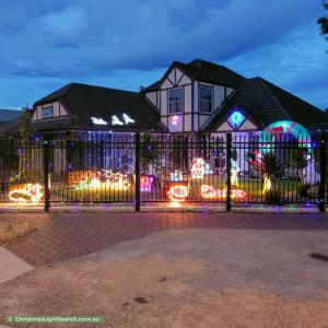 Christmas Light display at 2 Attingham Crescent, Oakden