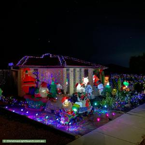 Christmas Light display at 16 Deucem Smith Street, Bonner