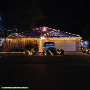 Christmas Light display at 16 Warbler Court, Boronia