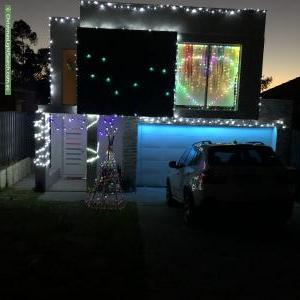 Christmas Light display at 76 Milne Street, Bayswater