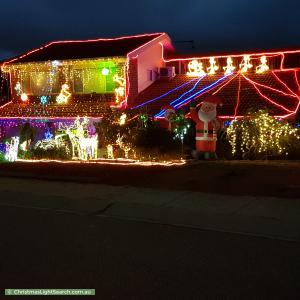 Christmas Light display at 77 O'Connor Circuit, Calwell