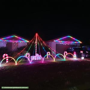 Christmas Light display at 42 Richardson Circuit, Conder