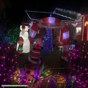 Christmas Light display at 340 Marion Street, Condell Park
