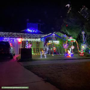 Christmas Light display at 233A Lawrence Street, Bedford