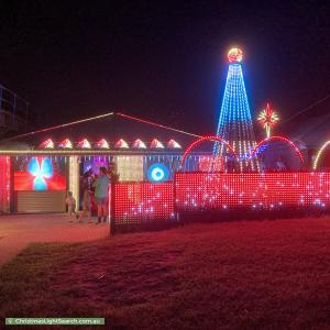 Christmas Light display at 8 Macgroarty Street, Coopers Plains