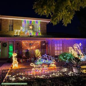 Christmas Light display at 7 Cahill Drive, Brookfield