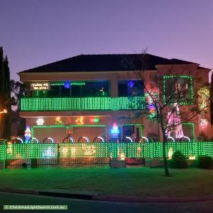 Christmas Light display at 37 Parkview Drive, Mawson Lakes