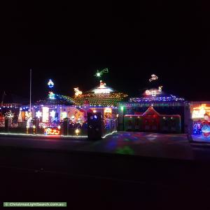 Christmas Light display at 82 Tullamore Drive, Darch