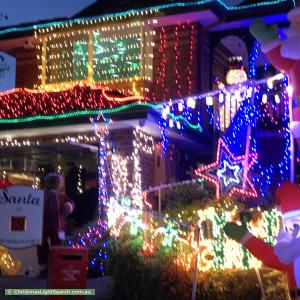 Christmas Light display at 23 Tanbridge Way, Warranwood