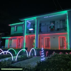 Christmas Light display at 18 Bishop Street, Cabarita