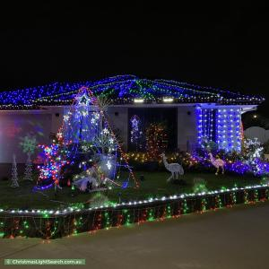 Christmas Light display at 2 Appenzeller Drive, Clyde North