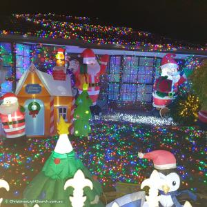 Christmas Light display at  Yandina Road, Hoppers Crossing
