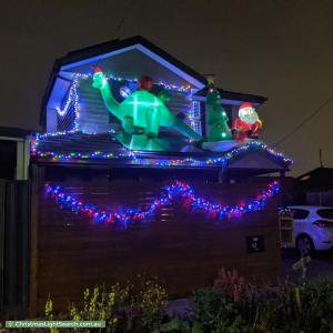 Christmas Light display at 42 Corben Street, Reservoir