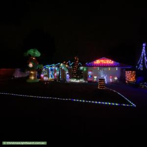 Christmas Light display at 10 Toulouse Terrace, Narre Warren South