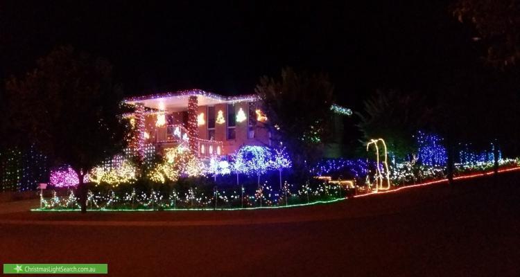 Christmas Light display at 2 Elischer Street, Dunlop