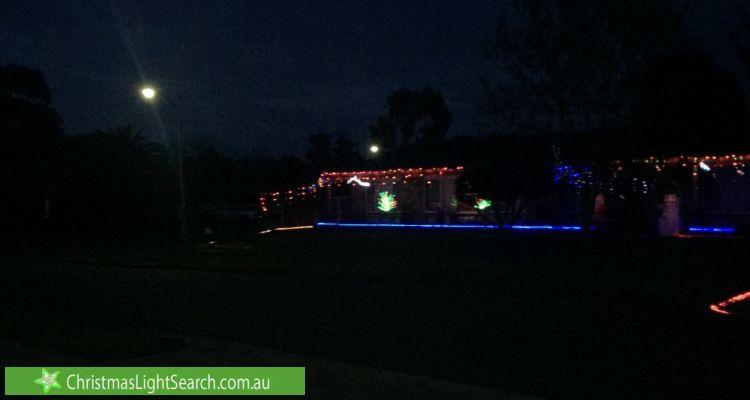 Christmas Light display at 1 Millstream Road, Werrington Downs