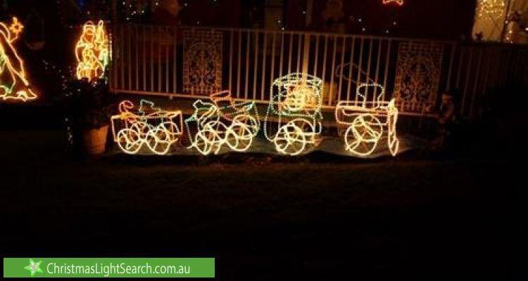 Christmas Light display at 74 Brahma Road, North Richmond
