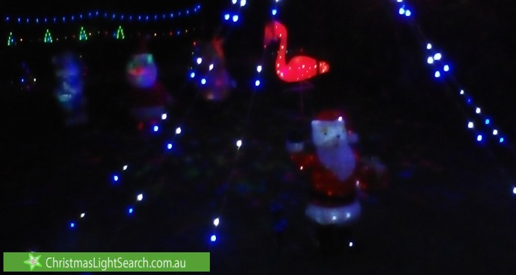 Christmas Light display at  Kempsie Road, Upper Mount Gravatt