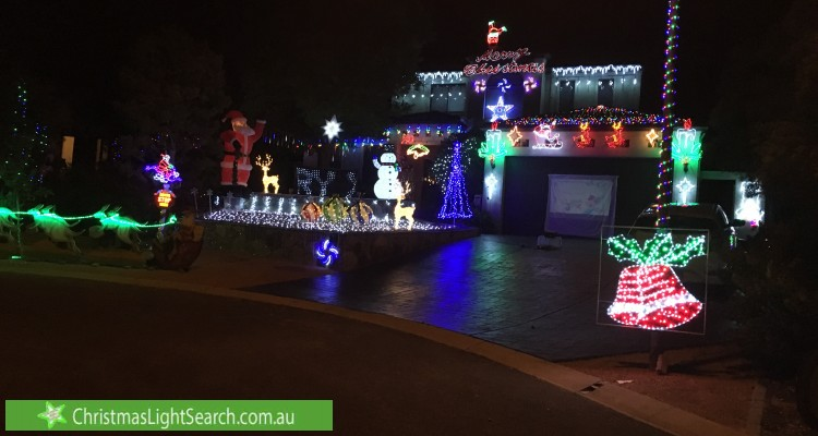 Christmas Light display at 18 Tully Place, Jerrabomberra