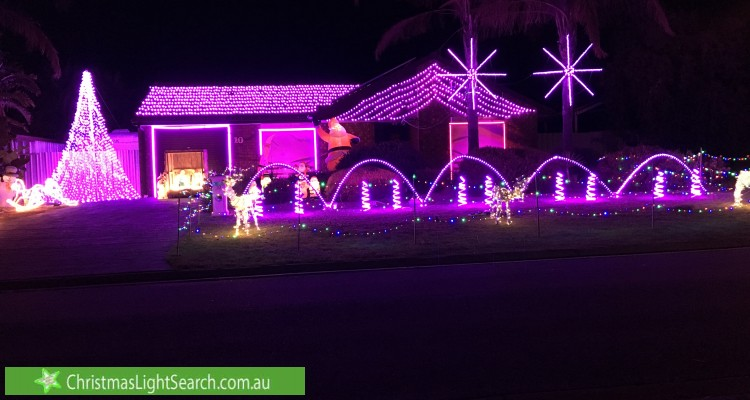 Christmas Light display at 10 Currumbin Avenue, Blakeview